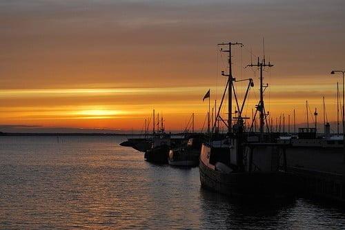 Stege auf der Insel Mön in Dänemark