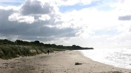 Spaziergänge in den Herbstferien am Strand
