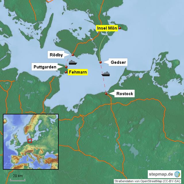 Anreise Zur Insel Wangerooge Mit Dem Auto Pkw: Lage Und Anreise Zur Insel Mön