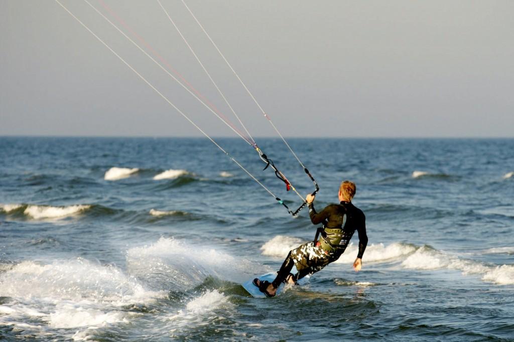 Kite Surfen auf Moen Dänemark