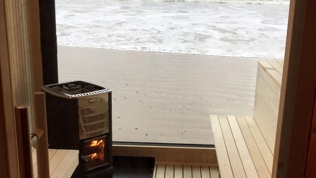 mobile sauna in j tland am strand. Black Bedroom Furniture Sets. Home Design Ideas